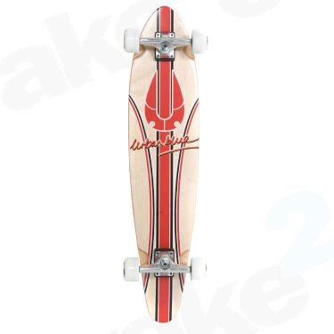 Urban Blue Kicktail Longboard - Red Signature - Best Quality Cheap Longboards For Sale Online - UK Skate Shop - Wake2o