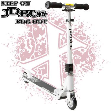 JD Bug Pro Series Street Scooter V3 Pepper White - UK Scooter Shop - Wake2o