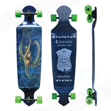 Kahuna Creations Seeker Drop Deck Longboard - Land Paddle - Buy Online Or Instore At Shrewsbury Longboard Shop Wake2o. UK Skateboard Shop