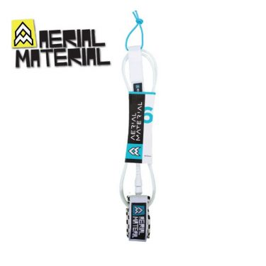 aerial material surfboard leash 6.0 white