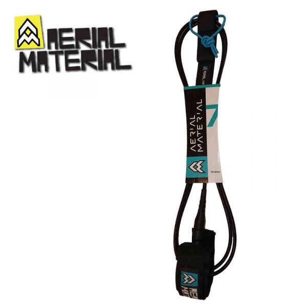 aerial material surfboard leash 7.0 black