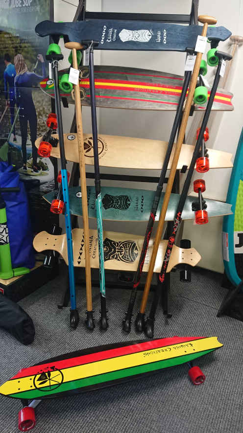 Kahuna Creations Landpaddles And Longboards Feature In The Wake2o Shop At Shrewsbury