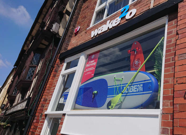 Wake2o Shop Front - wake2o.co.uk Shrewsbury Paddleboard Shop - wakeboard, longboard, surf, skate