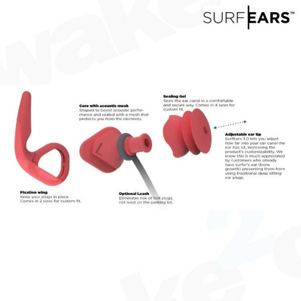 SurfEars - Best Protection Against Surfers Ear - Wake2o