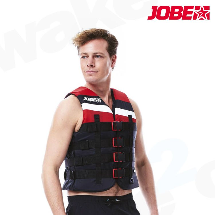 Jobe 4 Buckle Vest - Red - Unisex - wake2o.co.uk